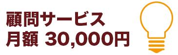 顧問サービスは月額3万円です