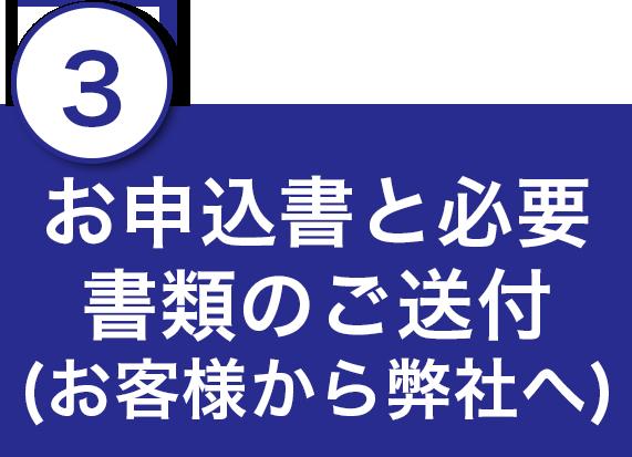 3.お申込書と必要書類のご送付(お客様から弊社へ)