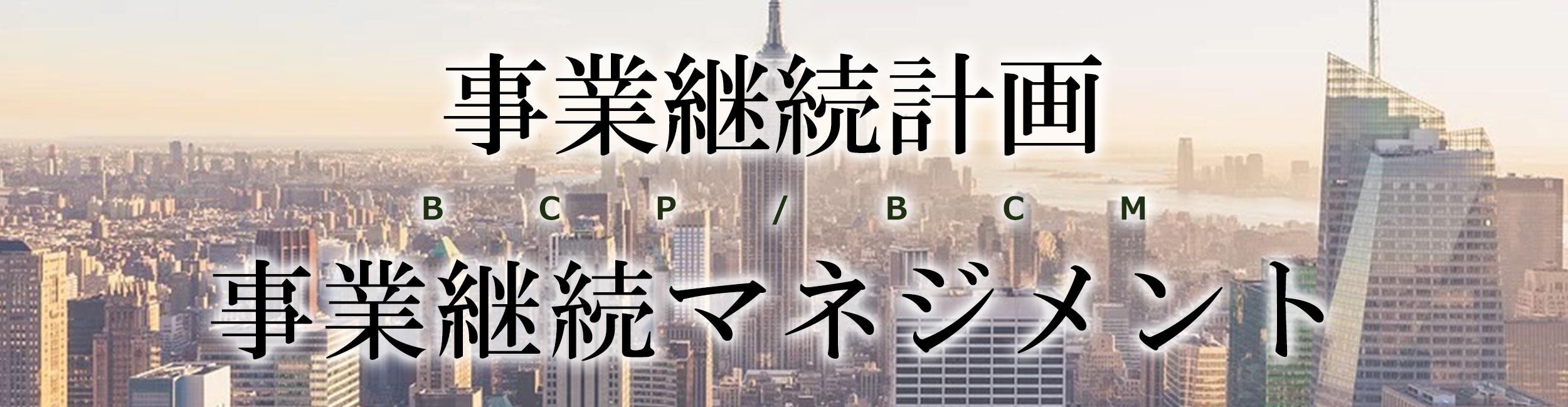 事業継続計画/マネジメント(BCP/BCM)